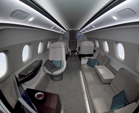 Luxury Interior Design for Aircraft on gadget-paradise-BMW aircraft  design
